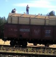 Пиломатериал хвойный (сосна) на вагоне из России по ГОСТ